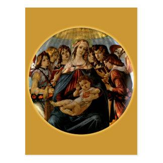 Madonna of the Pomegranate - Botticelli Postcard