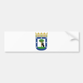 Madrid Spain Coat of Arms Bumper Sticker