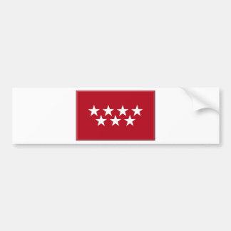 Madrid Spain (Regional) Flag Bumper Sticker