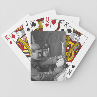Mae Marsh, as a Belgian girl, and_War image Playing Cards