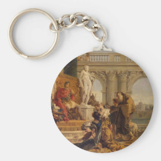Maecenas Presenting the Liberal Arts to Emperor Key Ring