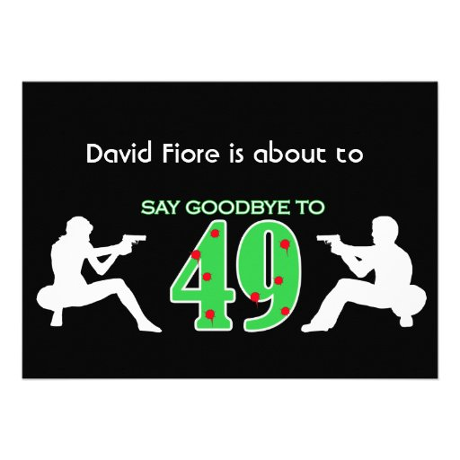 Mafia Style 50th Birthday Celebration Announcement