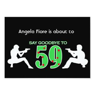 Mafia Style 60th Birthday Celebration 13 Cm X 18 Cm Invitation Card