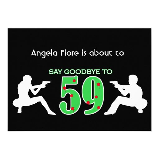 Mafia Style 60th Birthday Celebration Custom Invitations