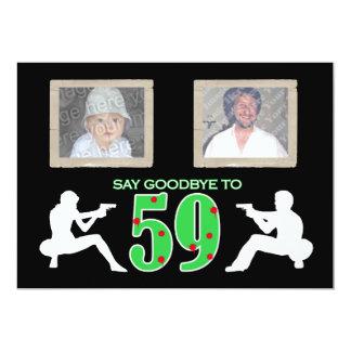 Mafia Style Photo 60th Birthday Celebration 13 Cm X 18 Cm Invitation Card