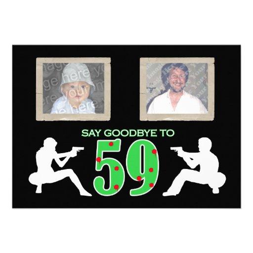 Mafia Style Photo 60th Birthday Celebration Custom Invitation