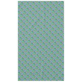 Magen David Gold and Turquoise Tablecloth