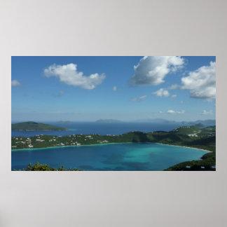 Magens Bay, St. Thomas Beautiful Island Scene Poster