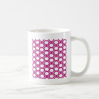 Magenta and White Eyelets Coffee Mug