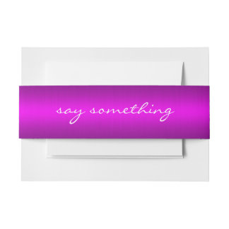 Magenta Belly Band Invitation Belly Band