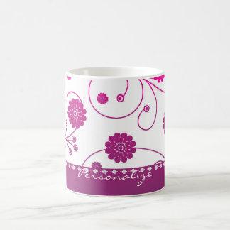 Magenta Bloom Banner Coffee Mug