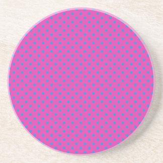 Magenta, Blue Polka Dots Coaster