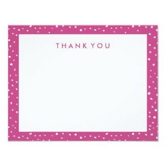 Magenta Dotted Thank You Note Cards