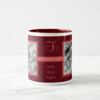 Magenta Elegant Monogram Mug