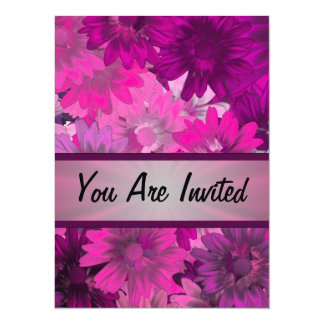 Magenta floral any occasion personalized invitation
