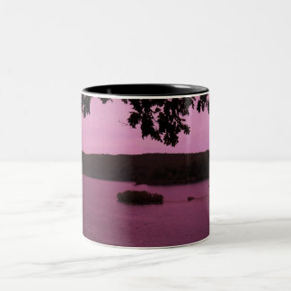 Magenta Lakeview Two-Tone Coffee Mug