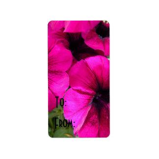 Magenta Petunias Label