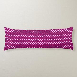 Magenta Polka Dots Body Pillow