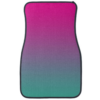 """""""Magenta Purple And Teal Ombre"""" Car Mat"""