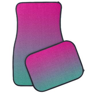 """""""Magenta Purple And Teal Ombre"""" Floor Mat"""