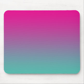 """""""Magenta Purple And Teal Ombre"""" Mouse Pad"""