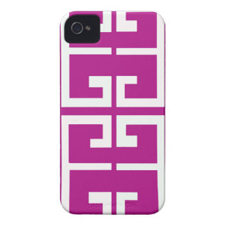 Magenta Spanish Tile iPhone 4 Cover