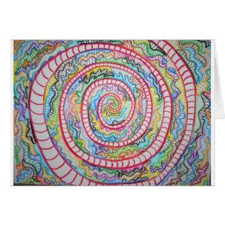 Magenta Spiral Card