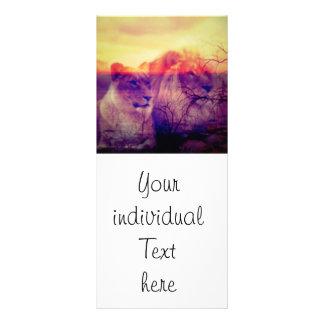 Magic Animals LIONS Rack Card Template