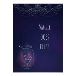Magic Does Exist FireFly Jar Poster