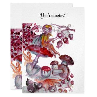 MAGIC FOLLET OF MUSHROOMS silver 11 Cm X 16 Cm Invitation Card