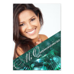 Magic Lights Photo Quinceanera - teal Personalized Announcements