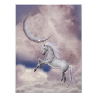 Magic Moon Unicorn Poster