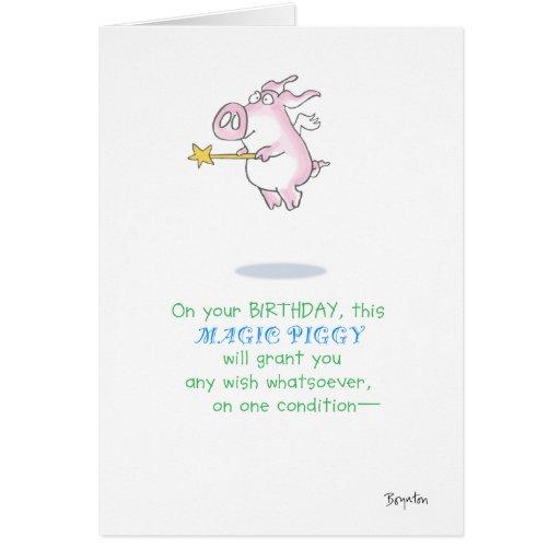 MAGIC PIGGY GREETING CARDS