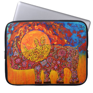 Magic Rhyno and sunset neoprene sleeve for tablet.