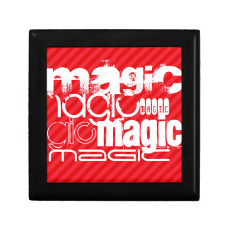 Magic; Scarlet Red Stripes Gift Box