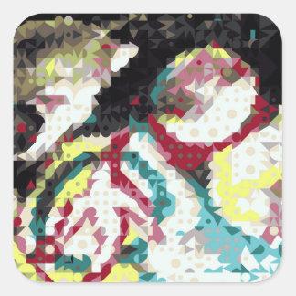 magic shapes square sticker