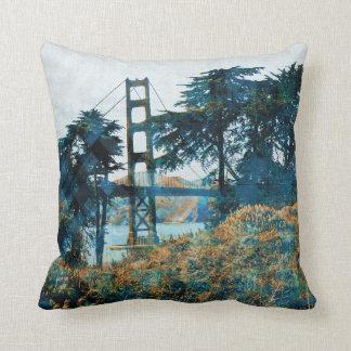 magic sunset bridge pillow