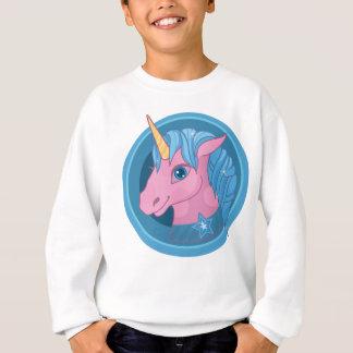 Magic Unicorn cartoon baby illustration Cute horse Sweatshirt