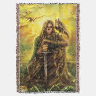 Magic Warrior Throw Blanket