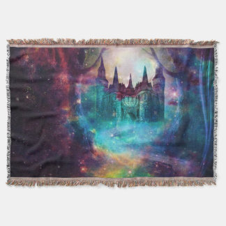 magical castle throw blanket