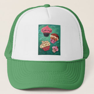 Magical Emporium of Flying Mustached Cupcakes Trucker Hat