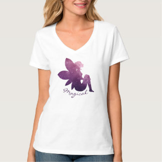 Magical Fairy Cosmic Galaxy Space V-Neck T-Shirt