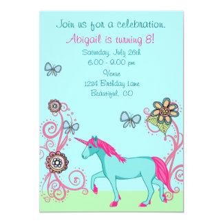 Magical Fantasy Unicorn Girl's Birthday Invitation