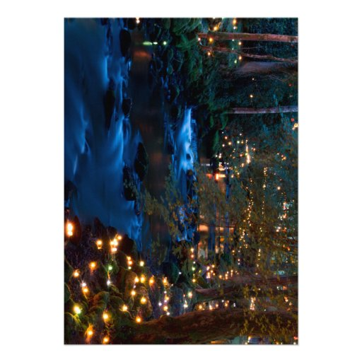 Magical forest at night custom invitation
