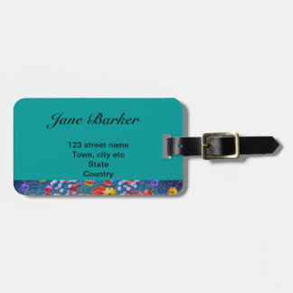 Magical Garden ~ Flowers and Butterflies Luggage Tag