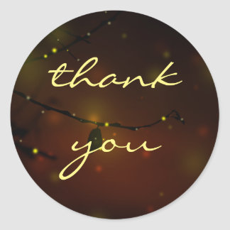 Magical Lights Nature Wedding Thank You Classic Round Sticker