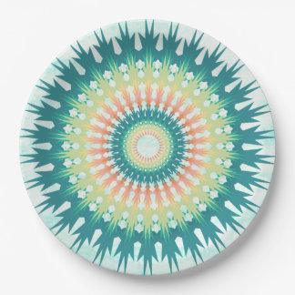 Magical Mystical Mandala Turquoise Orange Plates