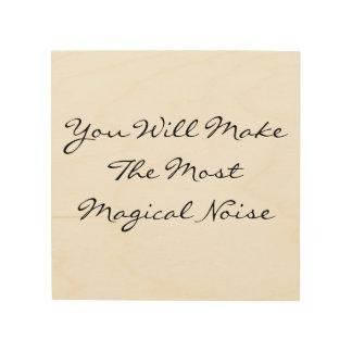 Magical Noise Wood Print