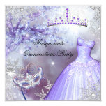 Magical Princess Quinceanera Masquerade Purple 13 Cm X 13 Cm Square Invitation Card