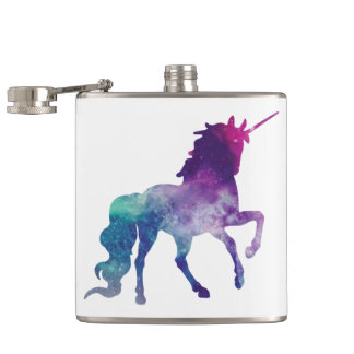 Magical Sparkly Prancing unicorn Hip Flask